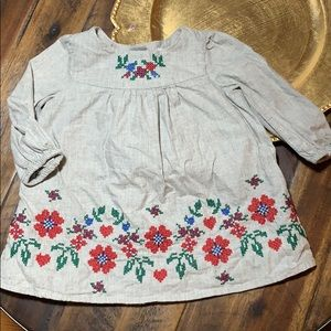 Baby Gap embroidered long sleeve dress